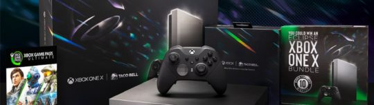 Microsoft and Taco Bell team up for Xbox One X giveaway
