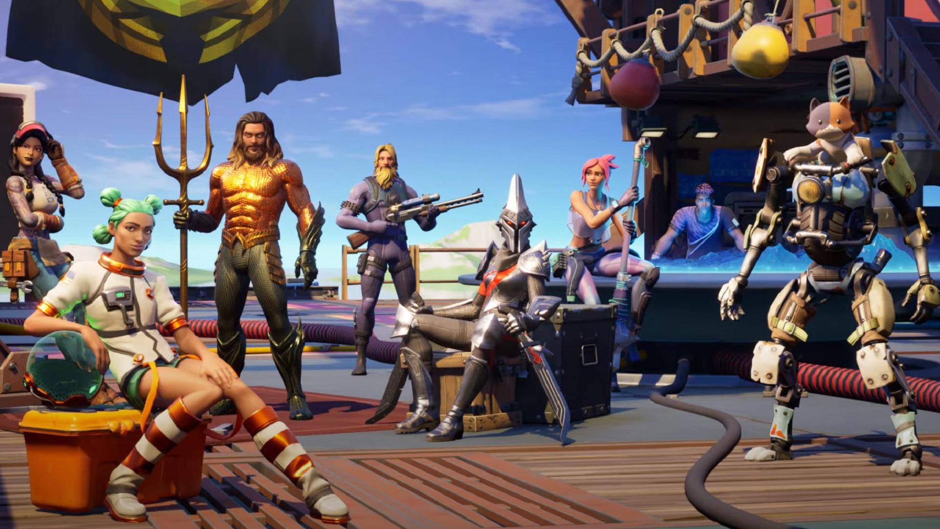 Fortnite Chapter 2 Season 3 Includes Sharks Build A Brella Aquaman And More Egm